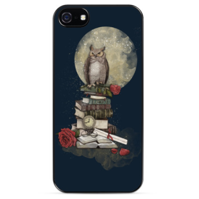 Чехол для iPhone Мудрая сова и книги
