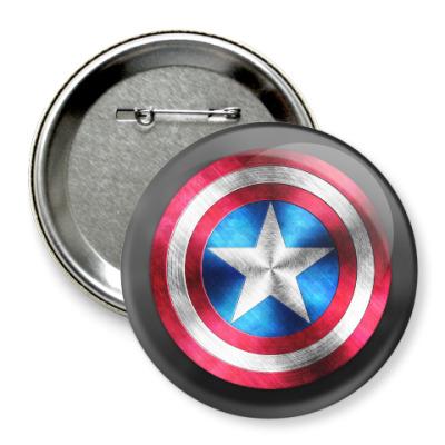 Значок 75мм Captain America
