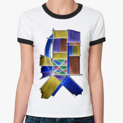 Женская футболка Ringer-T Quadra