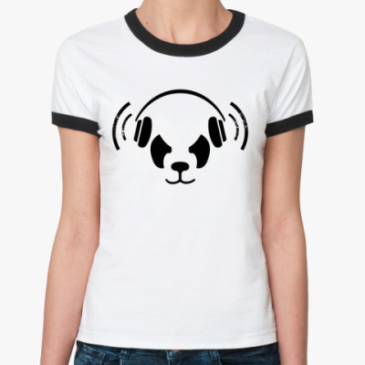 Женская футболка Ringer-T Дабстеп(dubstep), Бас(bass)