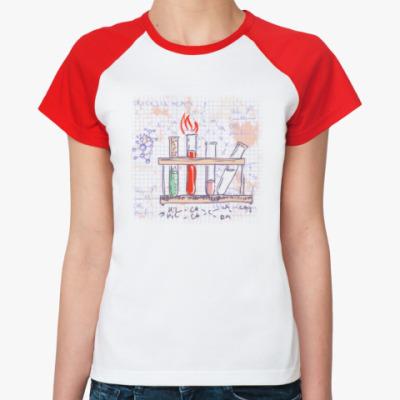 Женская футболка реглан Химия