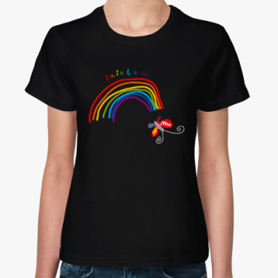 Женская футболка  Радуга