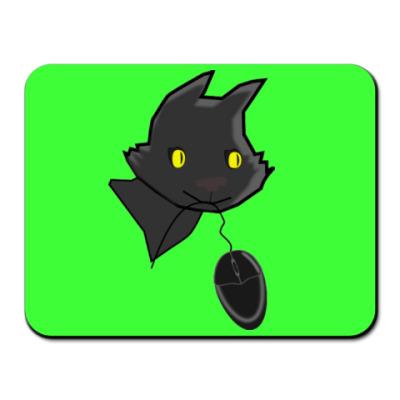 Коврик для мыши Кот с мышкой