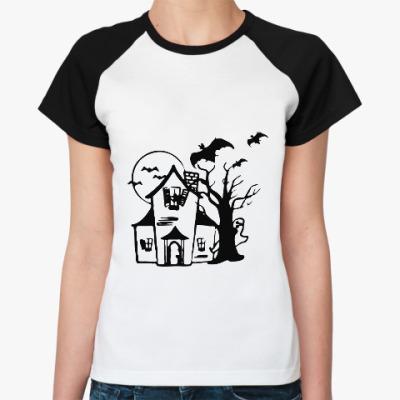 Женская футболка реглан Хеллоуин