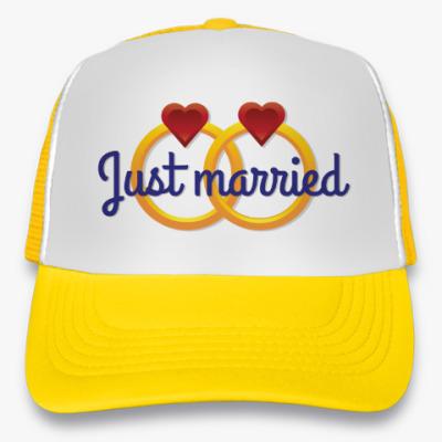 Кепка-тракер Just Married - Обручальные кольца