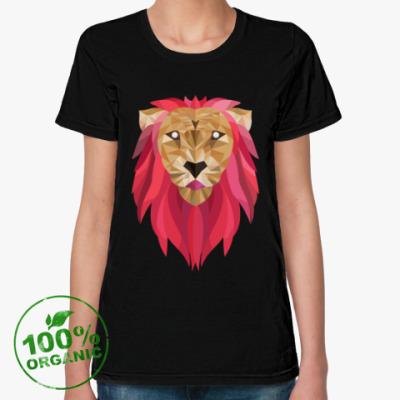 Женская футболка из органик-хлопка Лев / Lion
