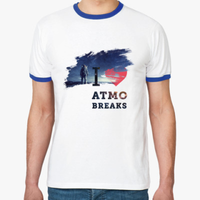 Футболка Ringer-T I love atmo breaks