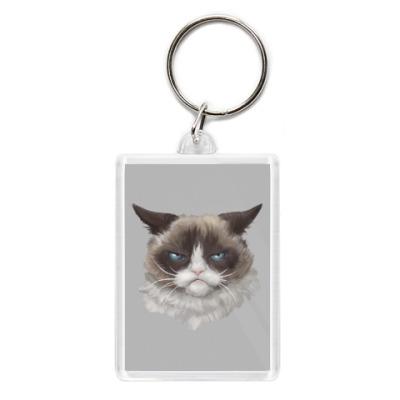 Брелок Grumpy Cat / Сердитый Кот