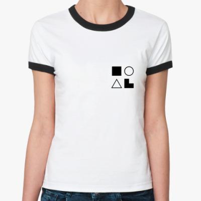 Женская футболка Ringer-T  ЛСЭ (Штирлиц)