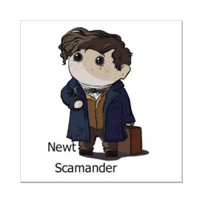 Наклейка (стикер) Newt Scamander
