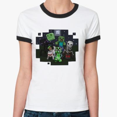 Женская футболка Ringer-T Minecraft