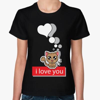 Женская футболка Женская футболка Sol's (черная