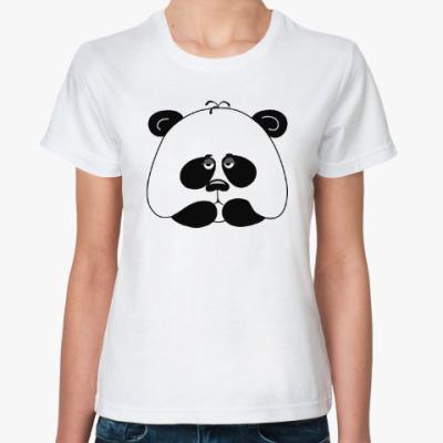 Классическая футболка Грустная панда