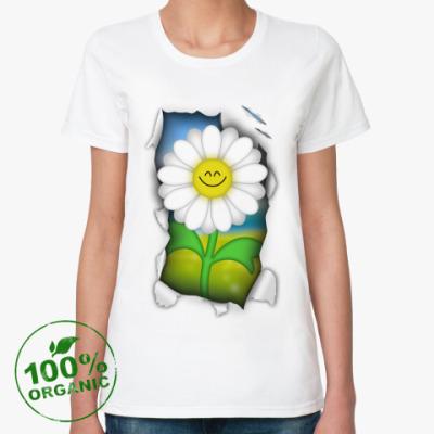 Женская футболка из органик-хлопка Ромашка