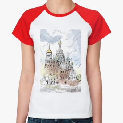 Женская футболка реглан Собор Спас-на-Крови. Питер