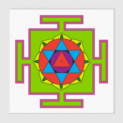 Холст Маха-мритьюнджайа-янтра