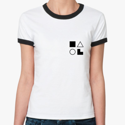 Женская футболка Ringer-T  ЛИЭ (Джек Лондон)