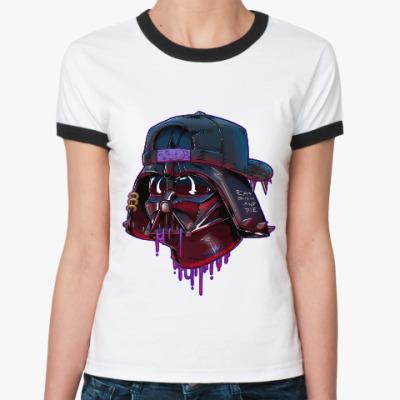 Женская футболка Ringer-T Дарт Вейдер Бомж