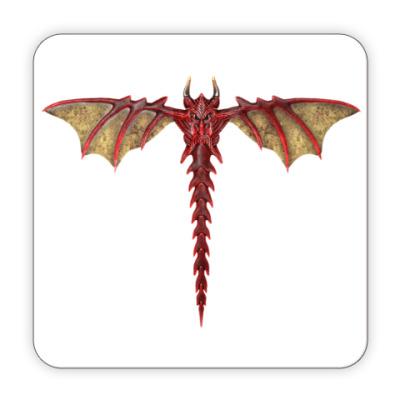 Костер (подставка под кружку) Дракон
