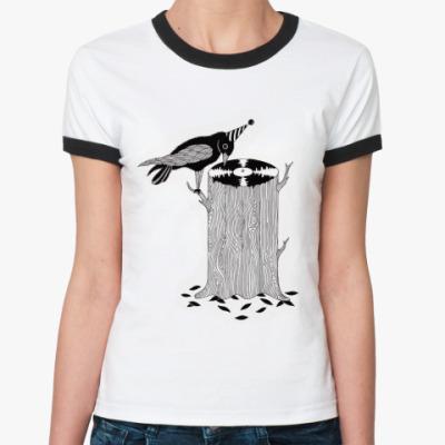 Женская футболка Ringer-T Дятел dj
