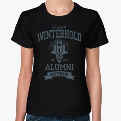 Женская футболка Skyrim College of Winterhold