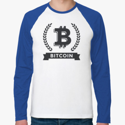 Футболка реглан с длинным рукавом Bitcoin - Биткоин