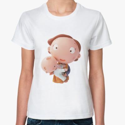 Классическая футболка Мама и ребёнок