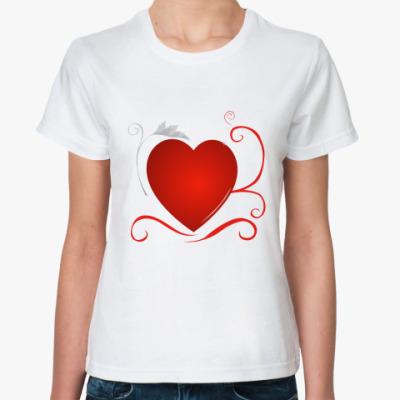 Классическая футболка 'сердце'