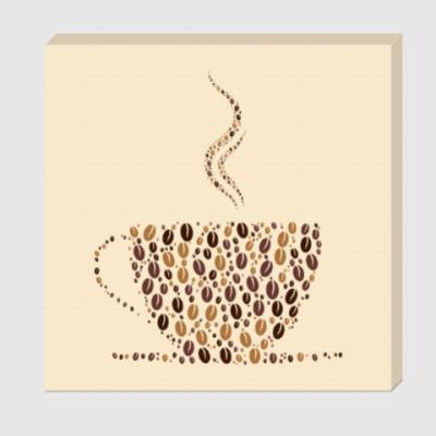 Холст Кофе из кофейных зерен