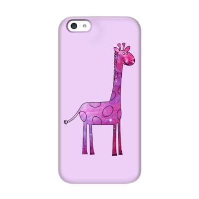 Чехол для iPhone 5c Космический Жираф
