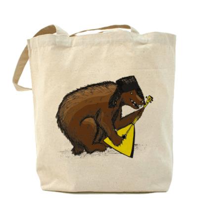 Сумка Холщовая сумка с медведем