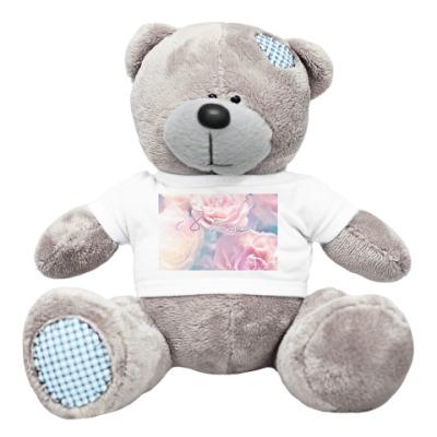 Плюшевый мишка Тедди Нежные розочки.