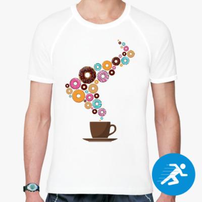 Спортивная футболка Кофе с пончиками