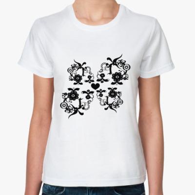 Классическая футболка узоры