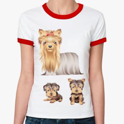 Женская футболка Ringer-T   Собачки