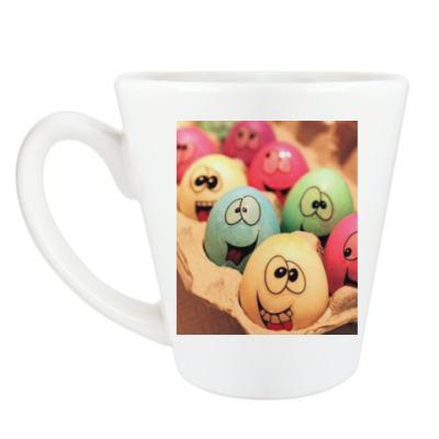 Чашка Латте Пасхальные яйца.