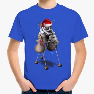 Детская футболка Happy New Year steampunk cat