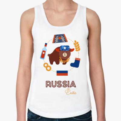 Женская майка Russia, Ёпта