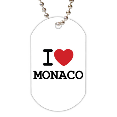 Жетон dog-tag I Love Monaco