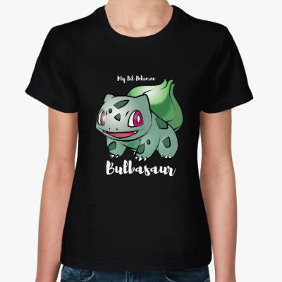 Женская футболка Мой любимец Бульбазавр