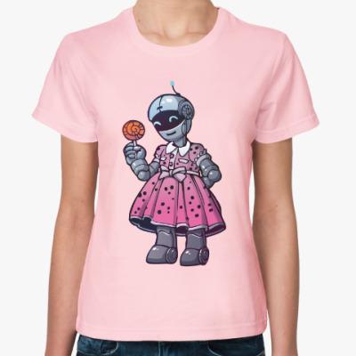 Женская футболка Мисс робот