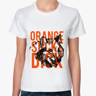 Классическая футболка ' оранж, волк'