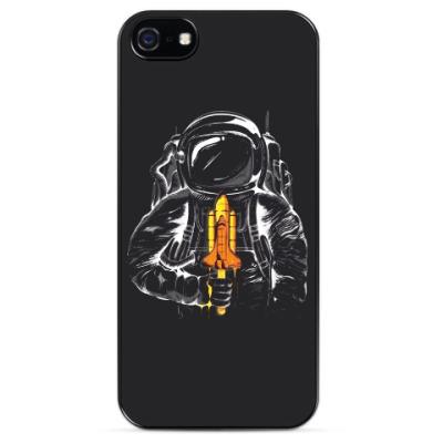 Чехол для iPhone Космонавт с леденцом