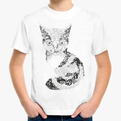 Детская футболка ' котик'