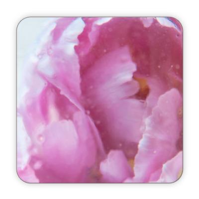 Костер (подставка под кружку) Акварельный цветок