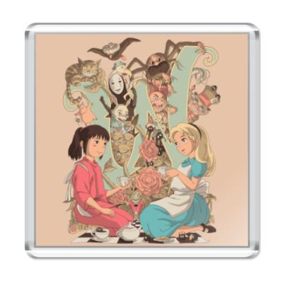 Магнит Wonderland Alice and Chihiro