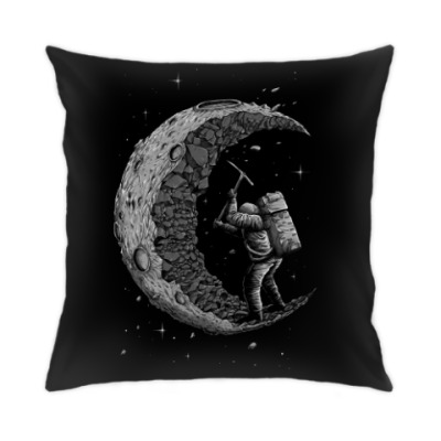 Подушка Moon worker космонавт на луне
