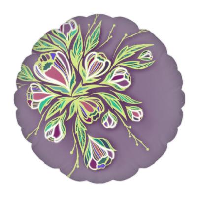 Подушка Glowing flowers