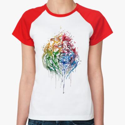 Женская футболка реглан Лев