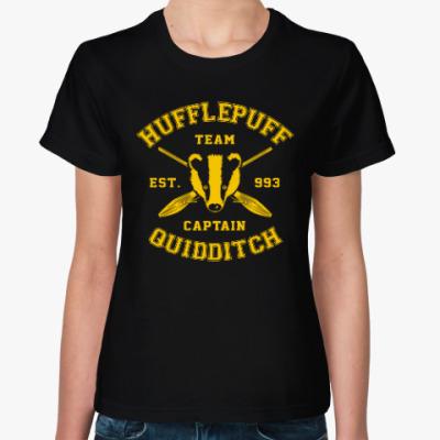 Женская футболка Hufflepuff Quidditch